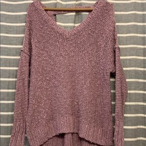 Beautiful mauv-ey rose blush color slouchy sweater